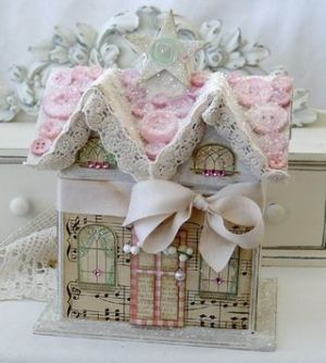 paper mache houses decorated