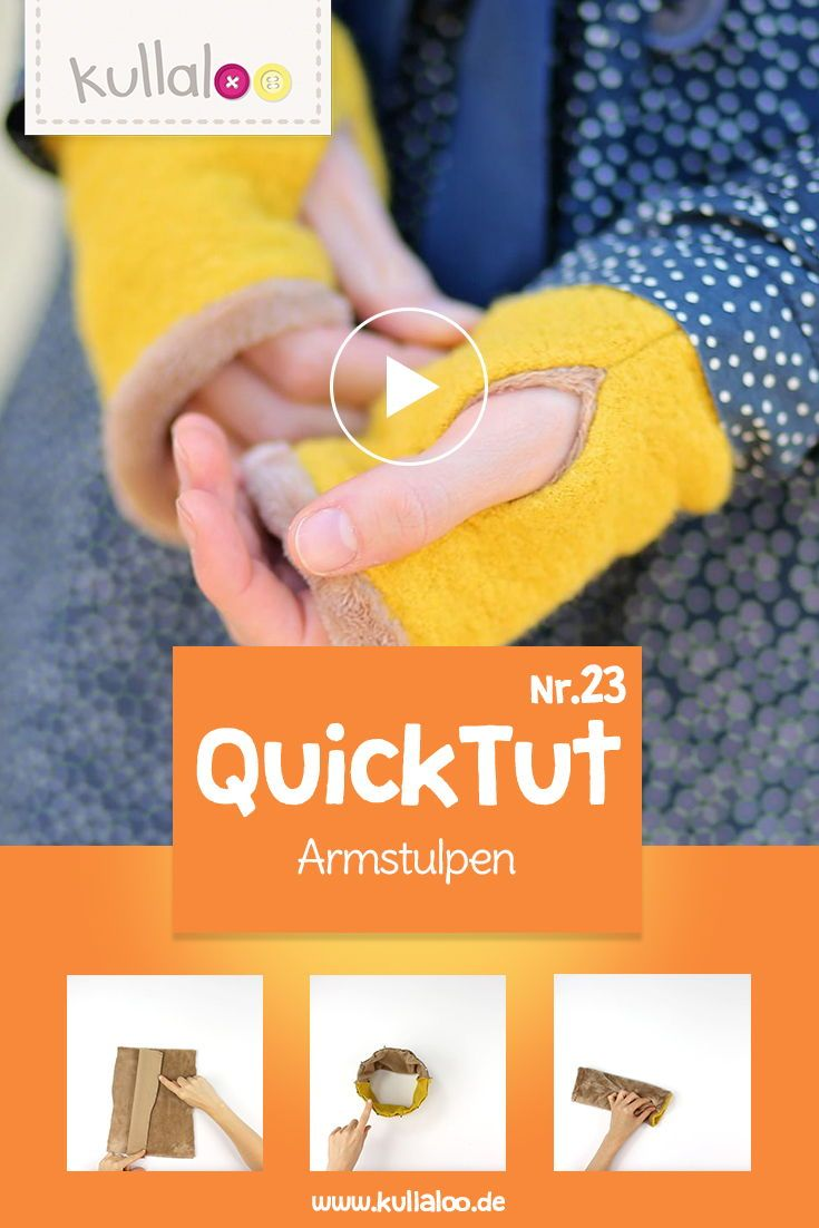 Autumn is the best time to sew arm warmers with our new free …   – Nähen Tipps & Tricks ✁✁✁