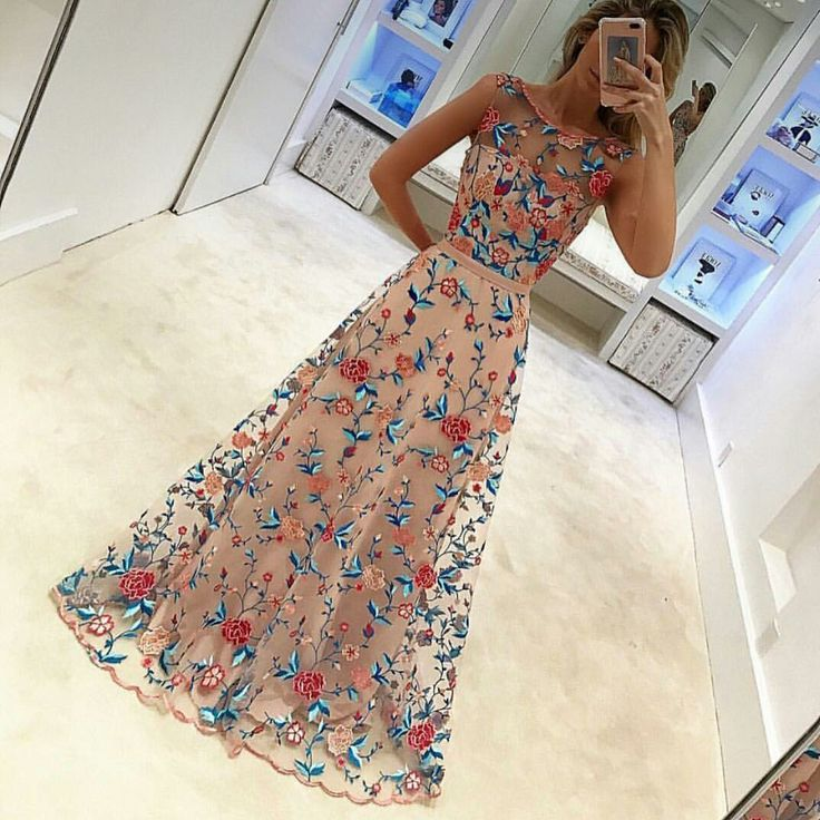 Vestido largo de flores Long flower dress