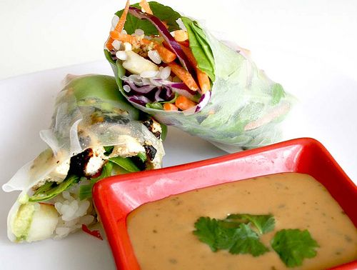 healthy spring rolls.: Asian Foods, Asian Recipes, Asian Thai Recipe, Healthy Spring Rolls, Spring Roll Recipes, Asian Indian Recipes, Lunch, Rolls Recipe