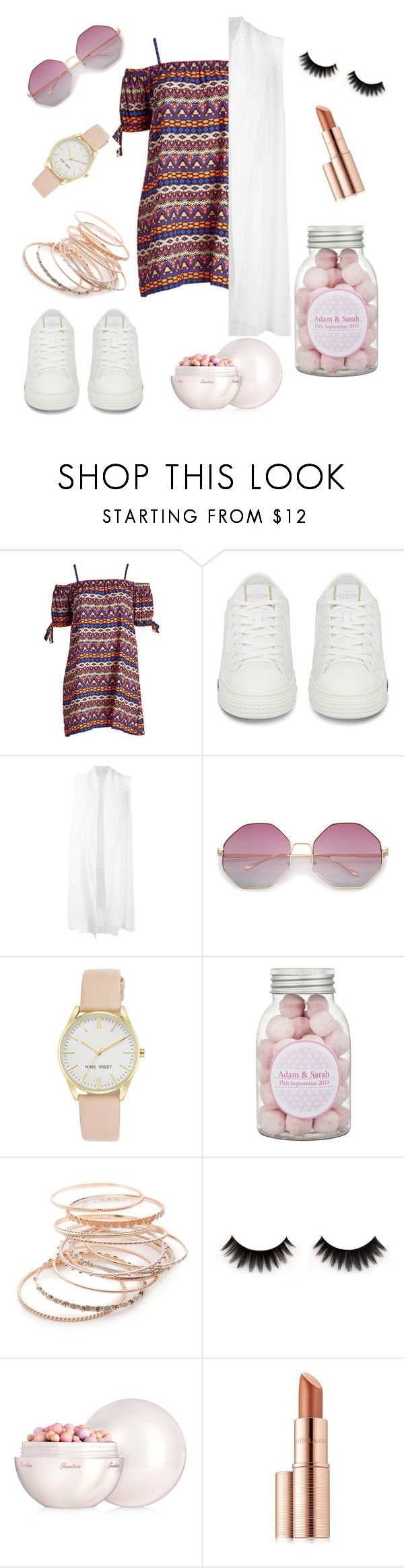 """Untitled #32"" by ssollocaty ❤ liked on Polyvore featuring demoo parkchoonmoo, Nine West, Red Camel, Guerlain, Estée Lauder and plus size dresses"