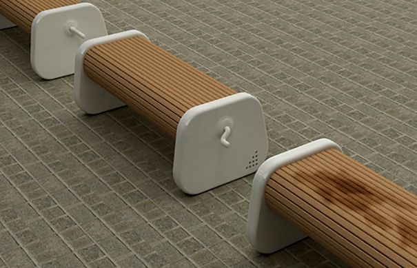 9. Rotating Bench That Guarantees a Dry Place to Sit