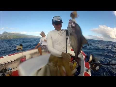 Pêche au paru au large de Tahiti - YouTube
