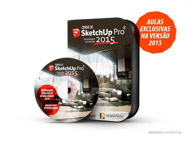 Curso de SketchUp PRO 8 com atualização do 2015 + Render VRAY atualizado com Certificado