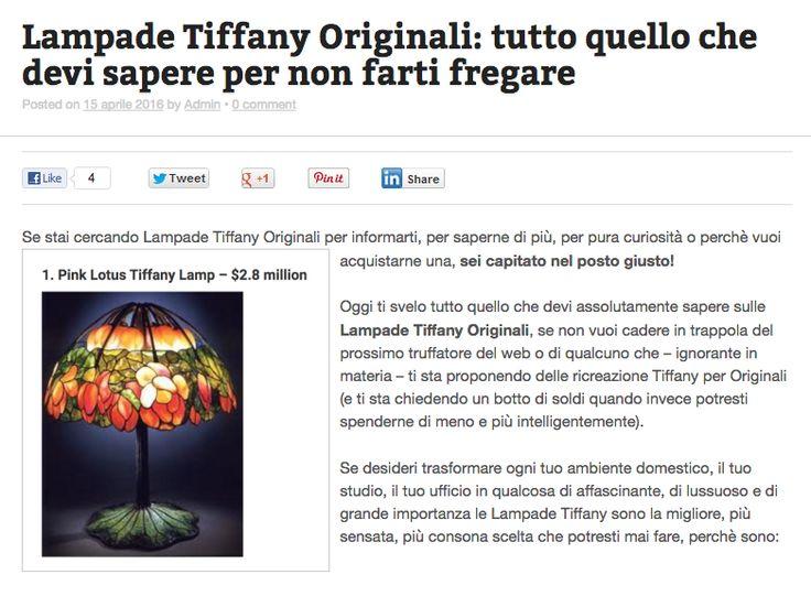 Lampade Tiffany Originali: in questo articolo trovi proprio tutto quello che devi -assolutamente- sapere - se non vuoi essere truffato o se non vuoi farti prendere in giro dal prossimo venditore-truffatore online (o in negozi fisici).   Leggi qui --> http://tiffanysicuro.it/blog/lampade-tiffany-originali-tutto-quello-che-devi-sapere-per-non-farti-fregare/