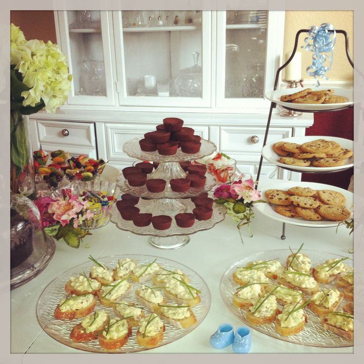 Salad Sandwich, Baby Shower Foods And Tables