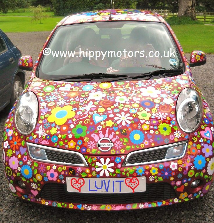 Love these daisy flower power nissan car stickers decals by hippymotors https www