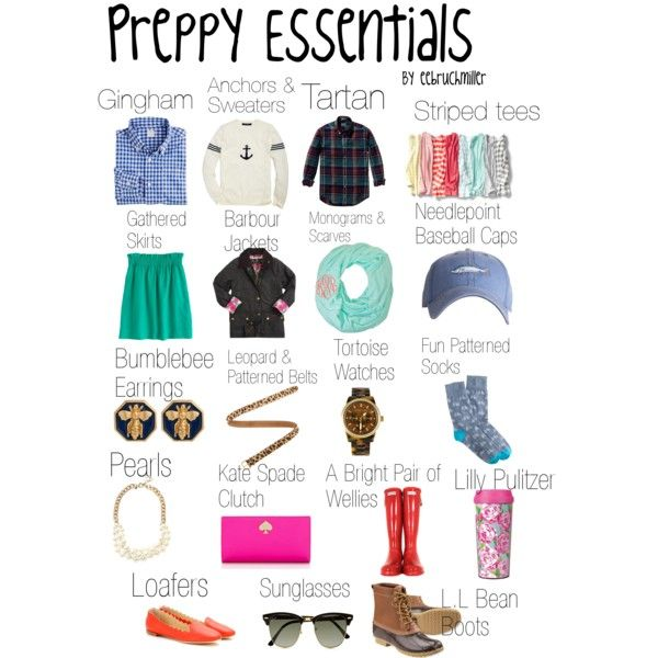 """Preppy essentials"" by eebruchmiller on Polyvore"