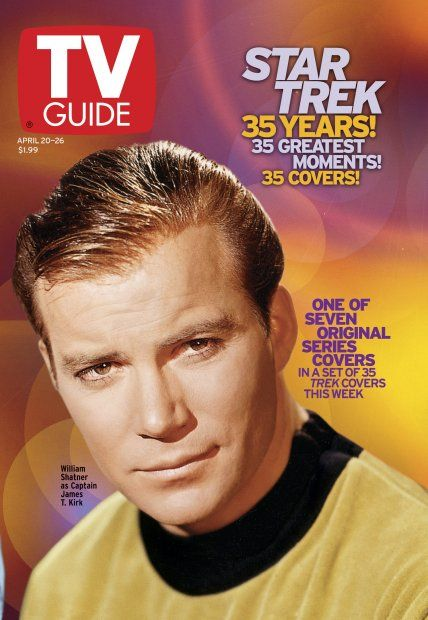 TV Guide April 20, 2002 (1 of 7) - William Shatner of Star Trek