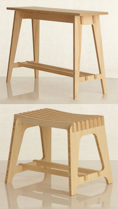 Adam Lynch is living the ID students dream: Hes started making money off of his designs while still in school. Lynch, who studies furniture design at Australias Royal Melbourne Institute of Technology, created a line of flatpack furniture called Scissor that includes stools, tables, and a wine rack.