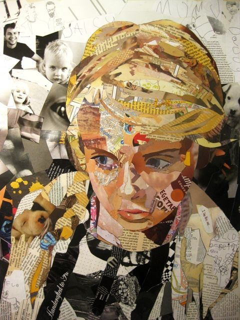 "Originally mainly a painter, artist Patrick Bremer has recently started making quite extraordinary collage work as well. He creates his pieces with layers of collaged magazines and books on paper. Based in the UK, the artist chooses strips and chunks of paper that fit the image both visually but also sometimes textually, it isn't as haphazard as it appears! He said, ""Some pieces are chosen specifically because the image or text relates to the sitter, but others are left to chance. The…"