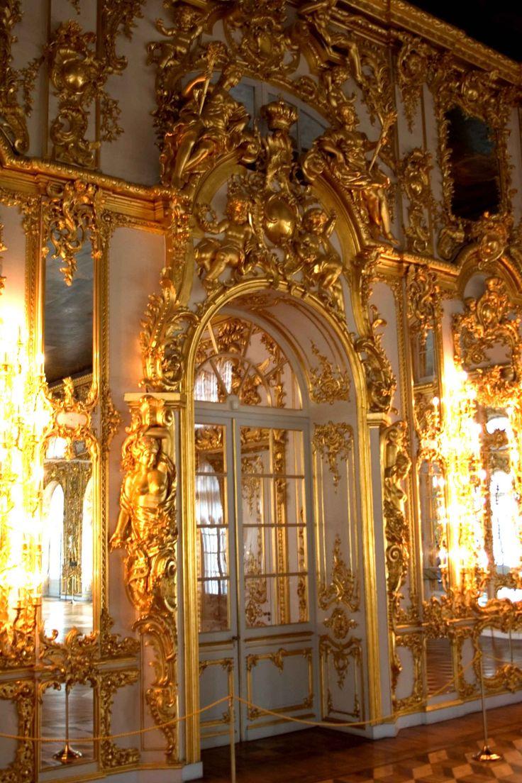 The Catherine Palace Tsarskoye Selo Pushkin Near Saint