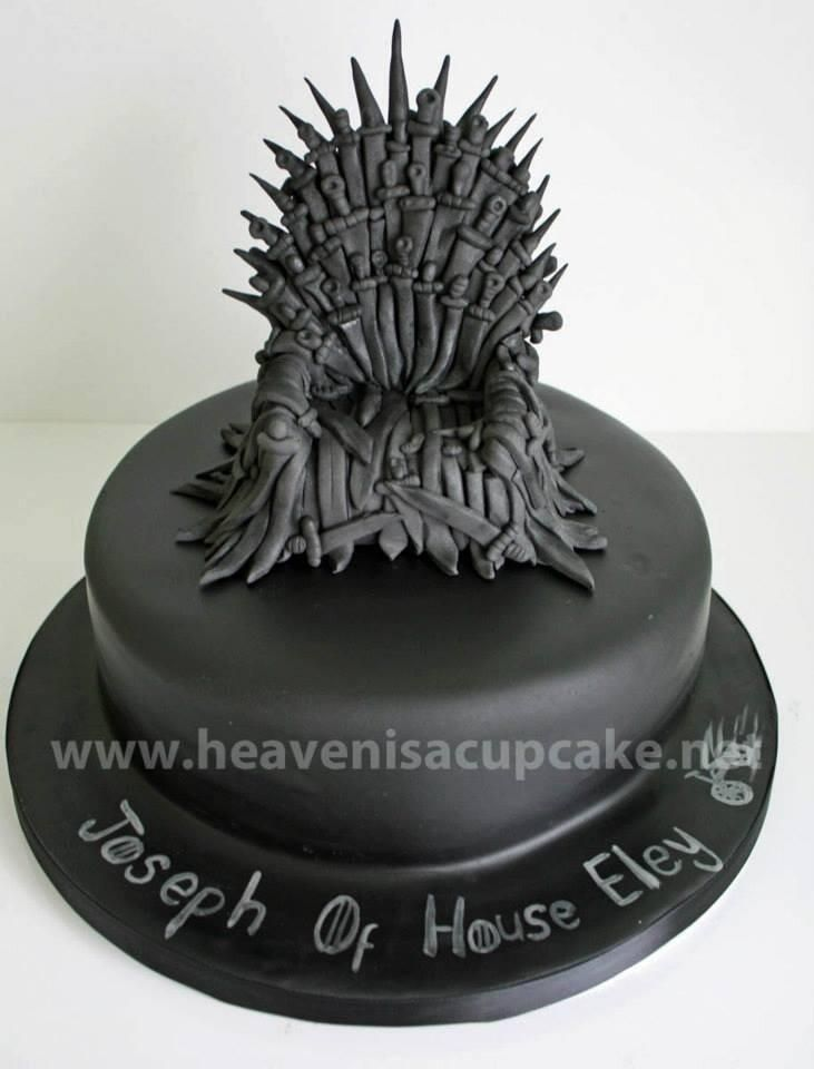 Game of Thrones cake - the iron throne