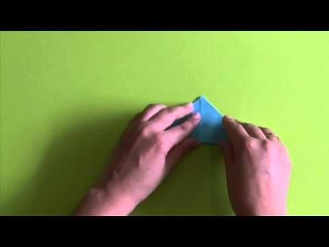 Nieuwe video om te leren hoe je een simpele kikker kan vouwen. Origami kikker
