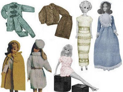 Knitting Patterns For Baby Dolls Clothes Old Style : 17 Best images about Single - Dolls, Clothes Knitting Vintage Patterns for do...