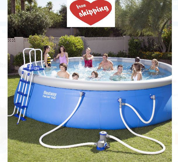 """Swimming Pool Set with Filter Pump Ground Cloth & Cover and Ladder 18' x 48""""  #SwimmingPoolSet"""