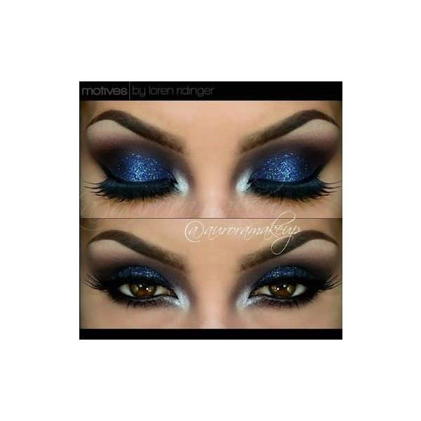 Motives Burgundy Smokey Eye with Blue Look by Auroramakeup (€13) ❤ liked on Polyvore featuring beauty products, makeup, eye makeup and eyes