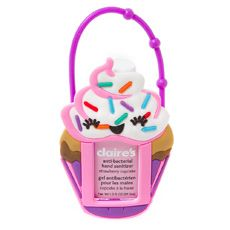 Cupcake Holder with Strawberry Cupcake Anti-Bacterial Hand Sanitizer