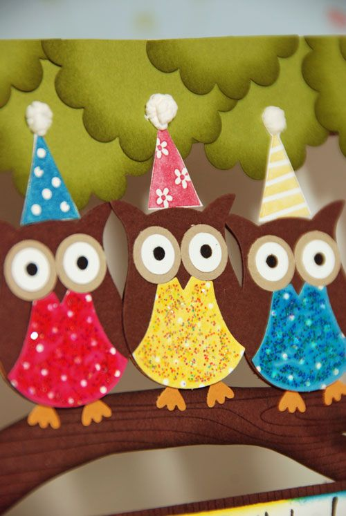 Owl Birthday Card Tutorial