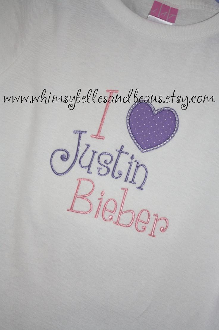 Shirt design london ontario - I Love Justin Bieber