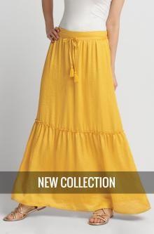 Jednobarevná maxi sukně