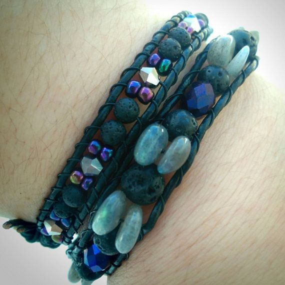 Check out this item in my Etsy shop https://www.etsy.com/ca/listing/267295662/real-leather-double-wrap-bracelet-with