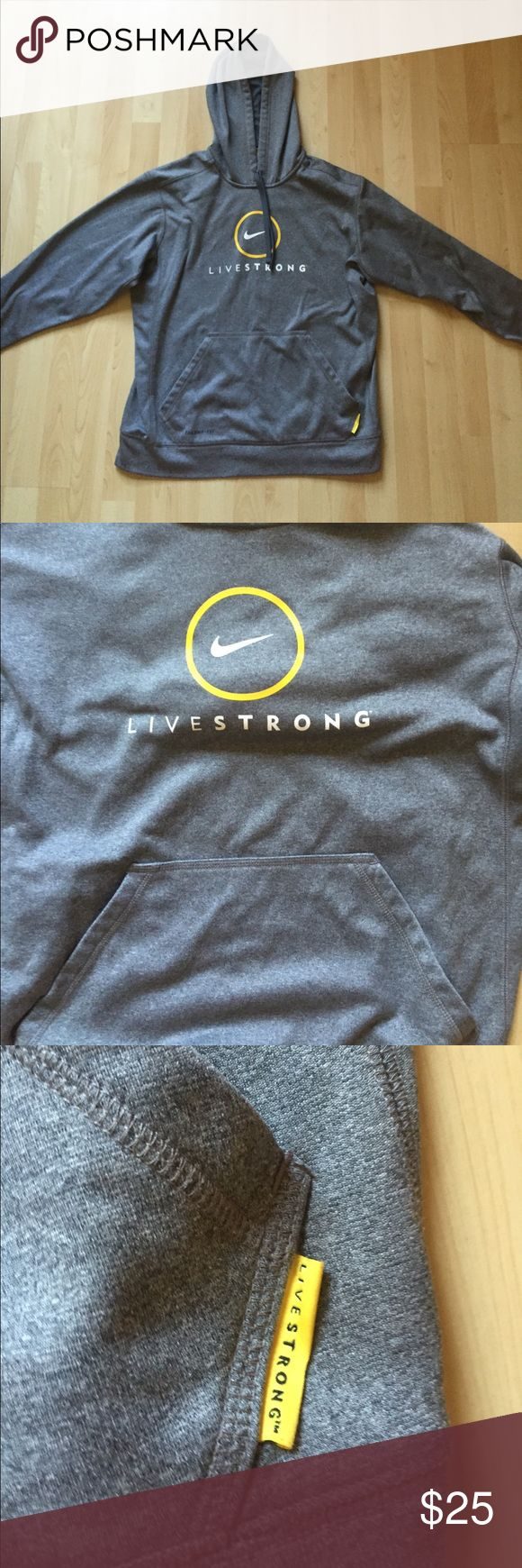 Nike Livestrong Hoodie It is brand new ; never wore before.  Size medium.  I got it as a gift but it was to big so I never wore it. Nike Other