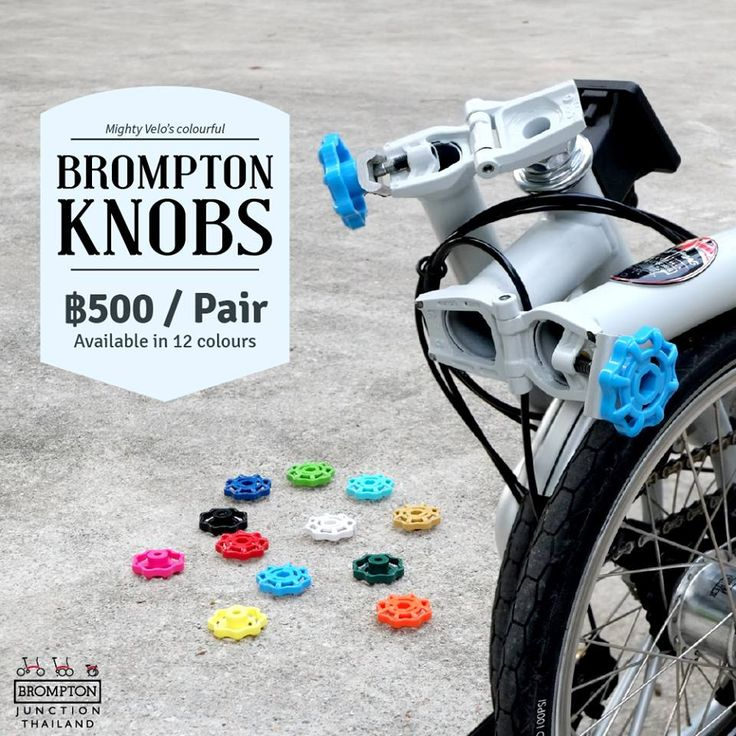 Want to match your Brompton? Then check out our unique Brompton Knobs in 12 colours! Only available in BKK and SG! Retails at 500 baht #bromptonjunctionthailand #brompton #knobs #colours