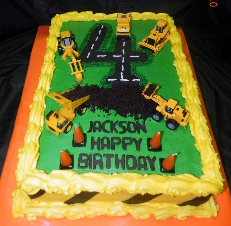 Construction themed birthday cake!  Construction party  Pinterest