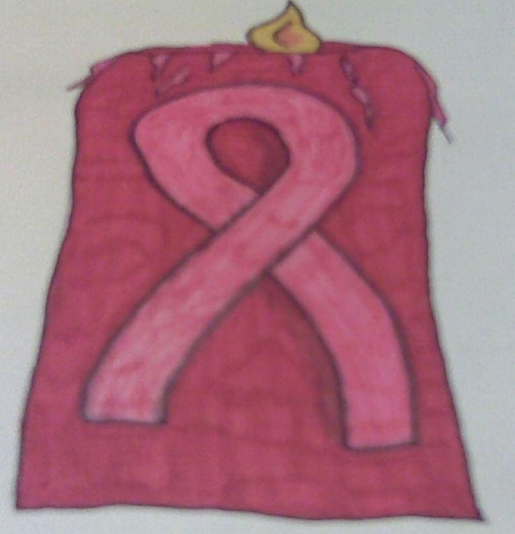 Pink Ribbon Candle