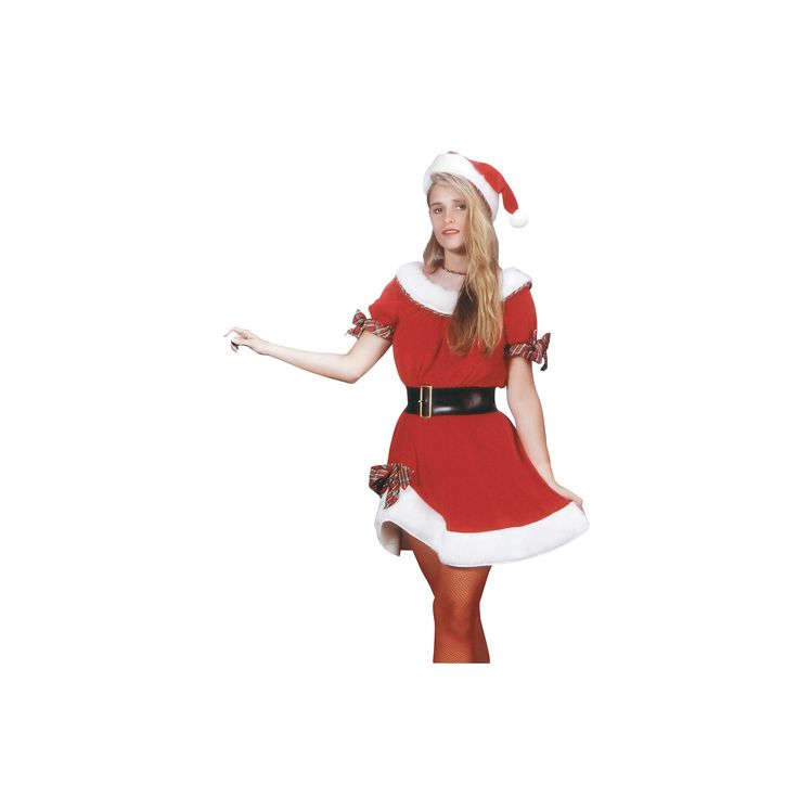 Halloween Women's Ms. Santa Costume One Size Fits Most, Multi-Colored
