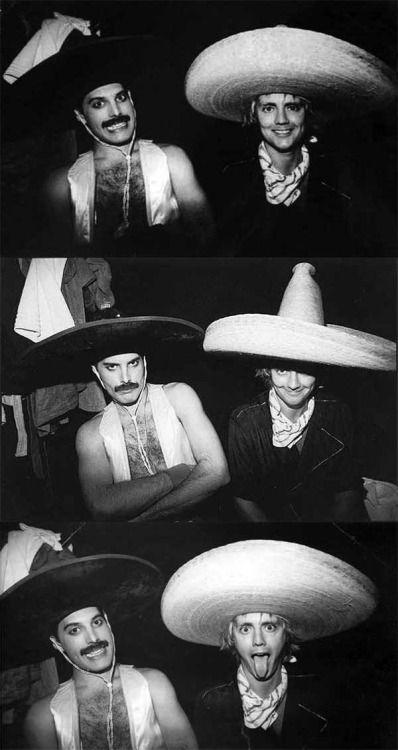 Freddie Mercury y Roger Taylor.