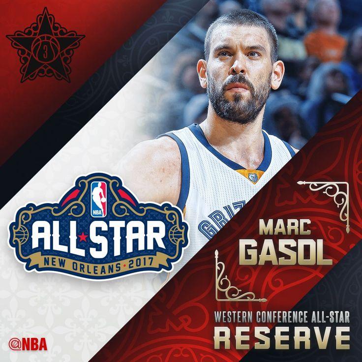 Marc Gasol, Memphis Grizzlies, 3rd time All Star  ...