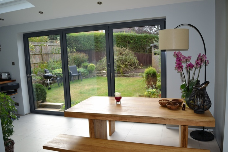 Suppliers of bespoke bifold door for Long sliding glass doors
