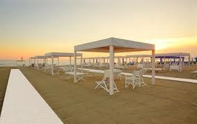Forte dei marmi , the desert beach at sunset - Tuscany (Italy)