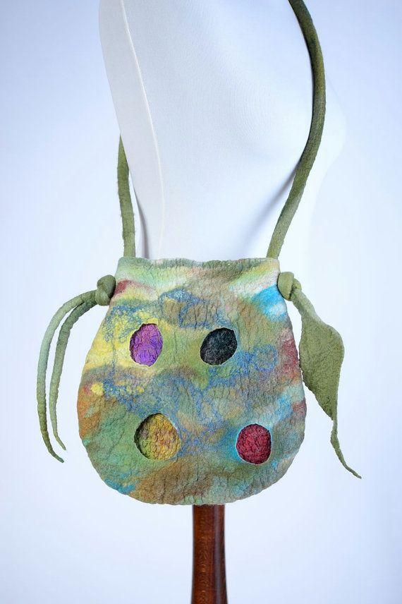 Цветная лесная войлочная сумка войлок художественная от BlanCraft