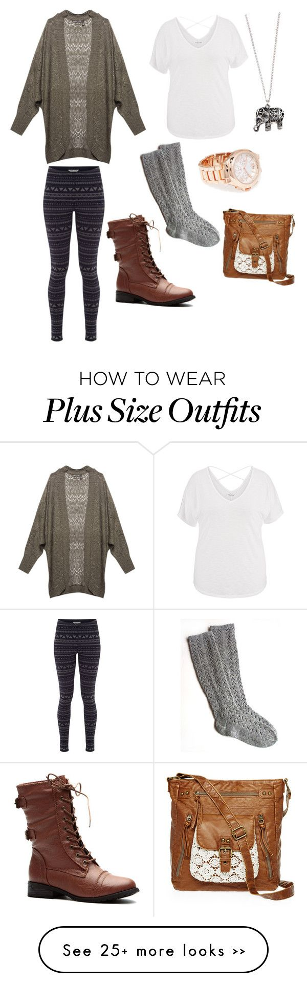 """""""Cozy fall day. (Plus size)"""" by nadia-shinkewicz on Polyvore featuring Wet Seal, maurices, White Stuff, Accessorize, Forever 21, T-shirt & Jeans, comfy, Leggings and plussize"""