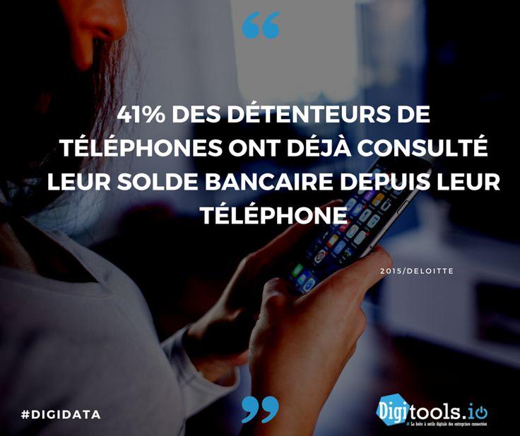 #DigiData 41% des détenteurs de téléphones ont déjà consulté leur solde bancaire depuis leur téléphone