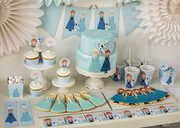 Postreadicción galletas decoradas, cupcakes y pops: Fiesta de Frozen, imprimible gratuito de Frozen