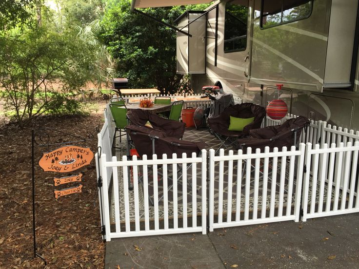 Fencing For Rvs : Our rv fence purchased at picketplayfences perfect for