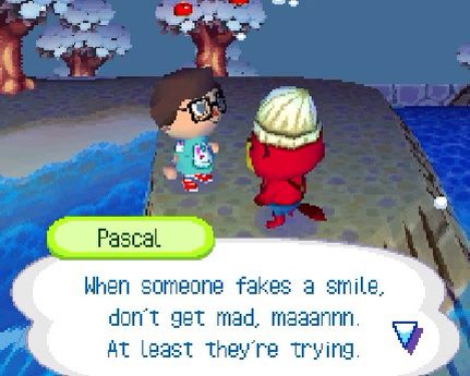 Animal Crossing: Wild World> that's some deep stuff man