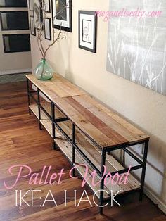 IKEA Hacking: How to make your own pallet wood entertainment center using IKEA VITTSJO TV units for around $100!