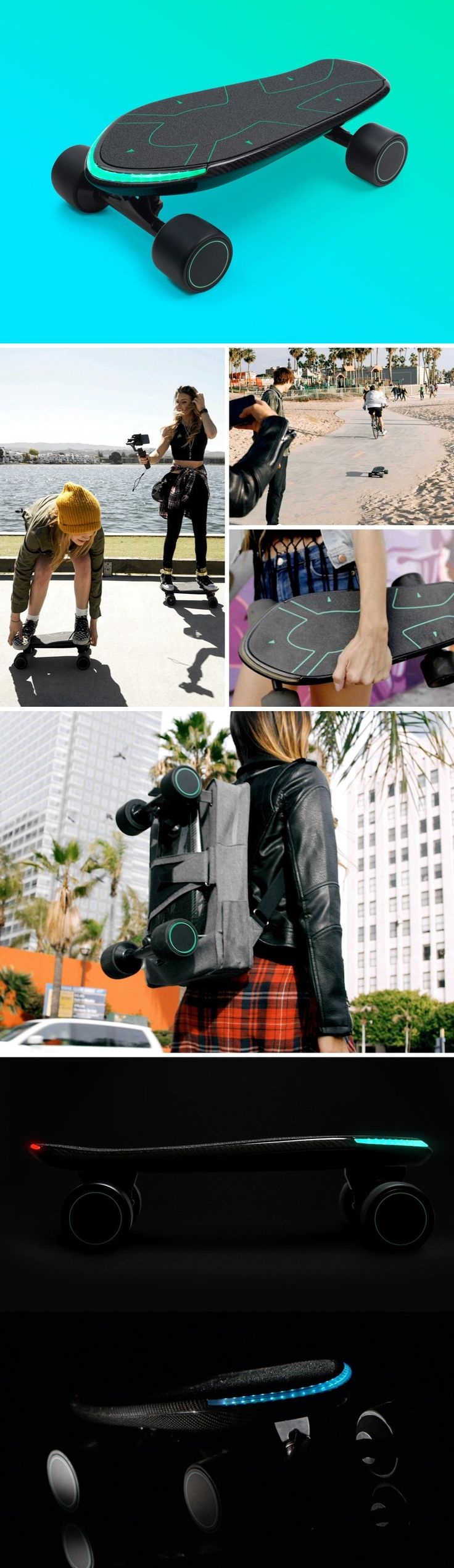 The Spectra is a rather tech-infused skateboard. Probably the only riding board that has machine-learning, the board learns from the way you ride it, allowing you to control it completely through leg-movements. Like most conventional e-skateboards, the Spectra comes with a motor-powered ride, but unlike others that rely on an external control (like a remote) to accelerate or decelerate, the controls are built right into the board itself. Buy Now!
