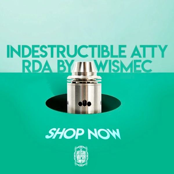 This latest indestructible RDA is constructed from 303 stainless steel and features an innovative conical top cap with hidden airflow control and a unique open slot wire terminal! #IndestructibleAttyRDA #Vape #bvt #vermontvapes #802vapes #vermontvapeshop