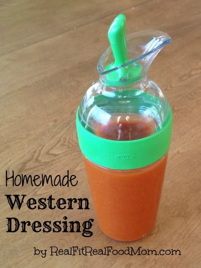 Homemade Western Dressing copycat recipe...without high fructose corn syrup and other artificial ingredients!