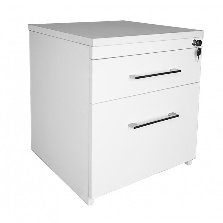 I TEAM 1 PEN/1 FILE MOBILE PEDESTAL U2022 Only Available In White Melamine