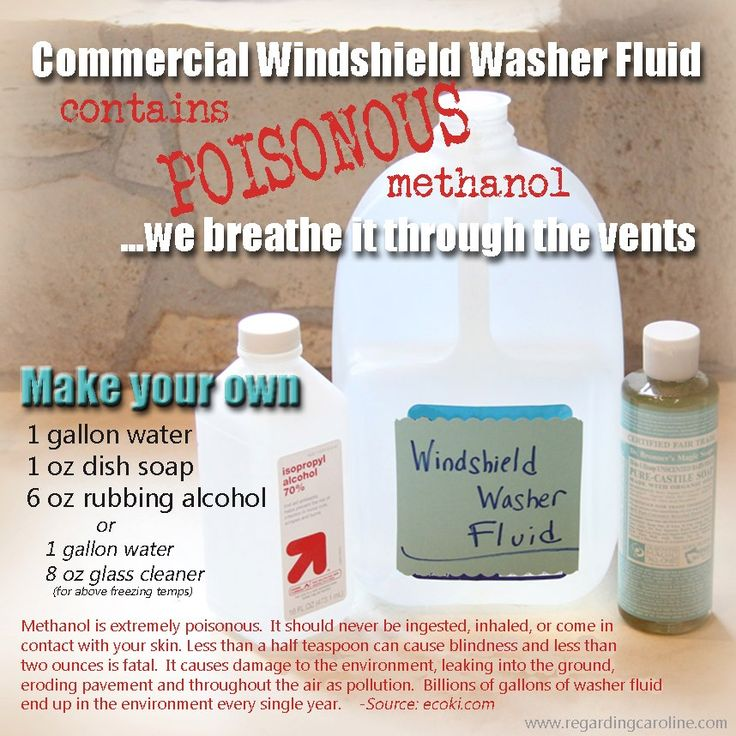 So many of us use all-natural household cleaners but don't stop to think about what's in our cars, spraying onto the windshield and coming right through the vents for our children to breathe. Yesterday, we made our own washer fluid. It was easy and very rewarding!