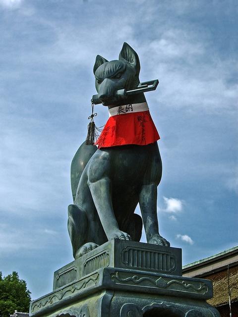 Fushimi Inari Fox Statue, Kyoto