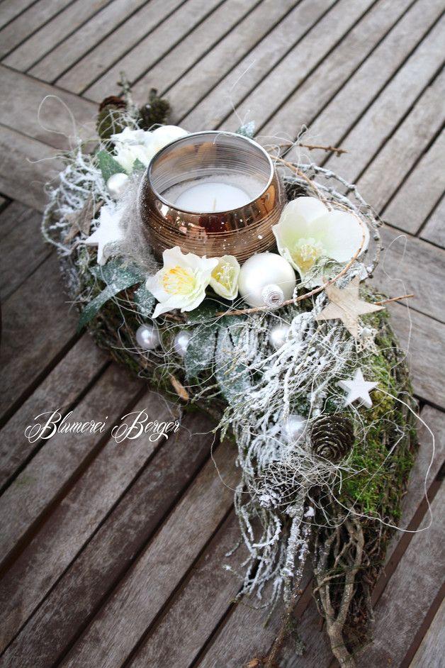 Weihnachtsdeko - :::: Winterschiffchen :::: - ein Designerstück von BlumereiBerger bei DaWanda