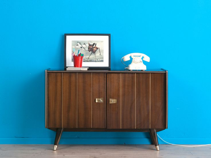 50er Jahre Kommode, Phono-Schrank, Sideboard von MID CENTURY FRIENDS auf DaWanda.com